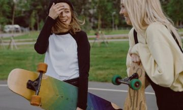 teen girls socializing