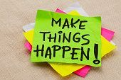 make things happen post it note