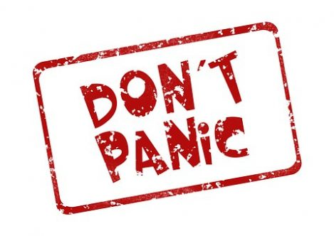 Don't Panic sign
