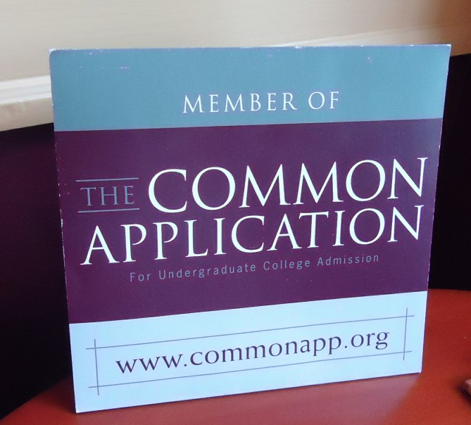 common application sign